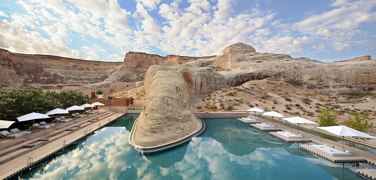 The pool at the Amangiri