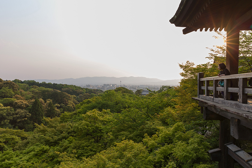 The temple looking out over Kyoto