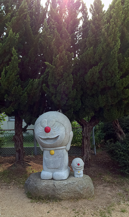 Doraemon statue on Teshima