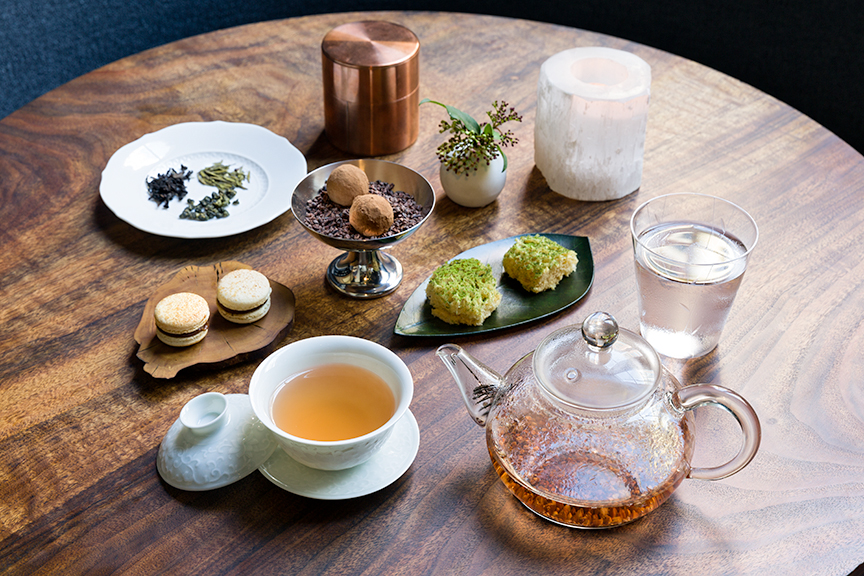 Tea setting at Saison
