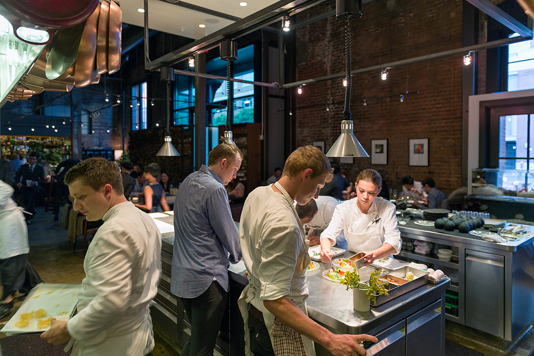 Diners can watch all the action in the kitchen