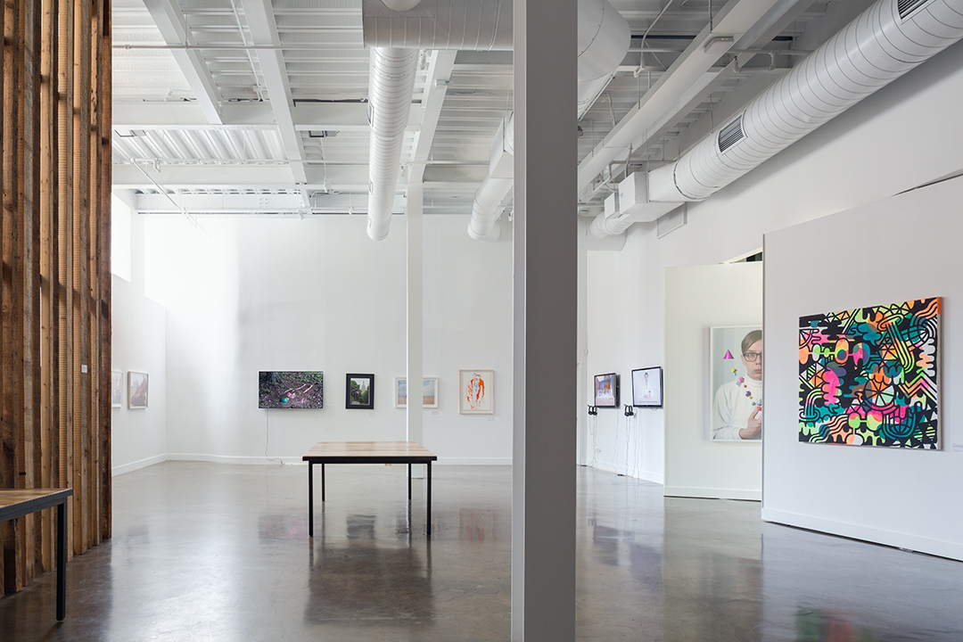 Gallery space at Kickstarter's HQ in Greenpoint