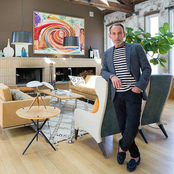 David Salle at his home in Ft Greene, <a href=