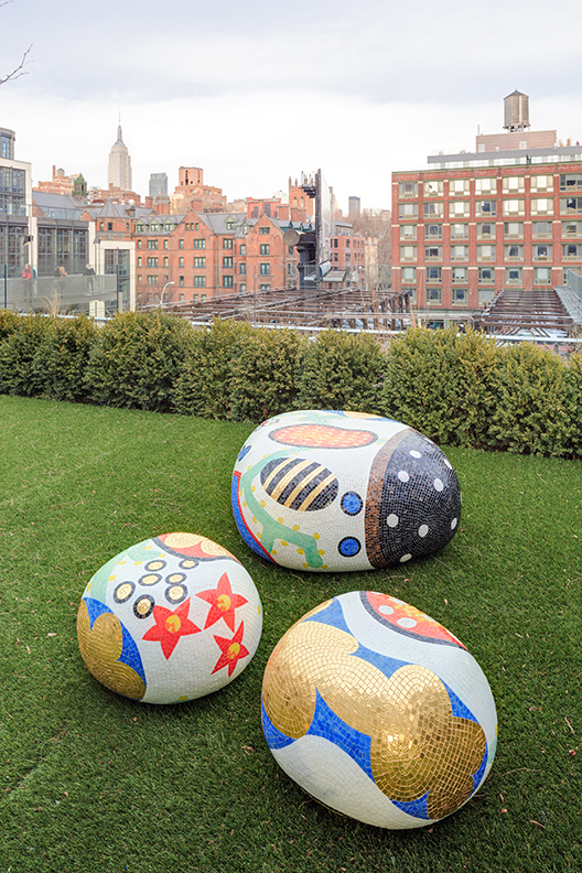 Marcel Wanders designed pieces on the store's roof garden